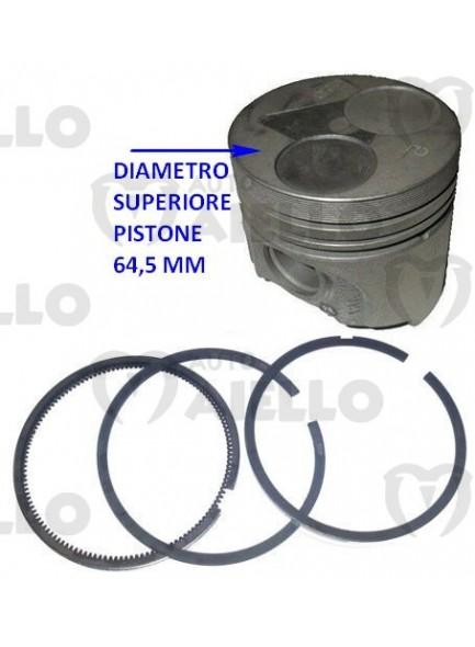 1666736410 Pistone + 0,50 motore z 402 + serie segmenti fasce
