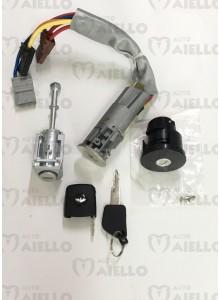 Kit blocchetto accesione+nottolino+cappuccio chiave+tappo serbatoio CH40 Chatenet