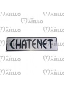Adesivo logo paraurti Chatenet ch26