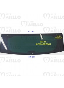 LUNOTTO VETRO CRISTALLO POST. VERDE TERMICO AIXAM CITY IMPULSION VISION GTO