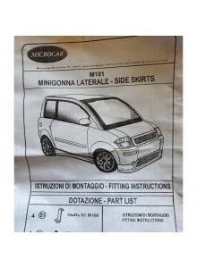 Kit minigonne sportive tuning Microcar MC1