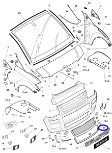 1004194 Cromatura paraurti anteriore Microcar MC1 seconda serie