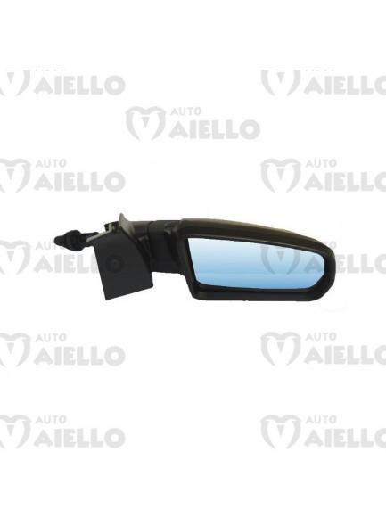 7ap142 Specchietto retrovisore dx completo di cover nero lucido Aixam impulsion gto crossover coupe vision